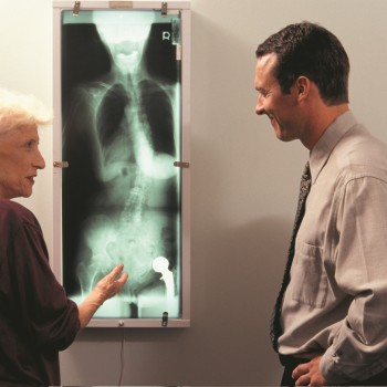 Patient with Doctor and Xray